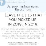 2020 Resolution: Leave The Lies