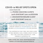COVID-19 Relief Coaching & Resume Scholarships Open